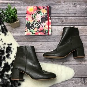 New Urban Outfitters Nola Ankle Boots in Olive